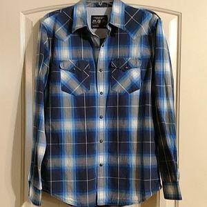 American eagle mens vintage fit western snap shirt